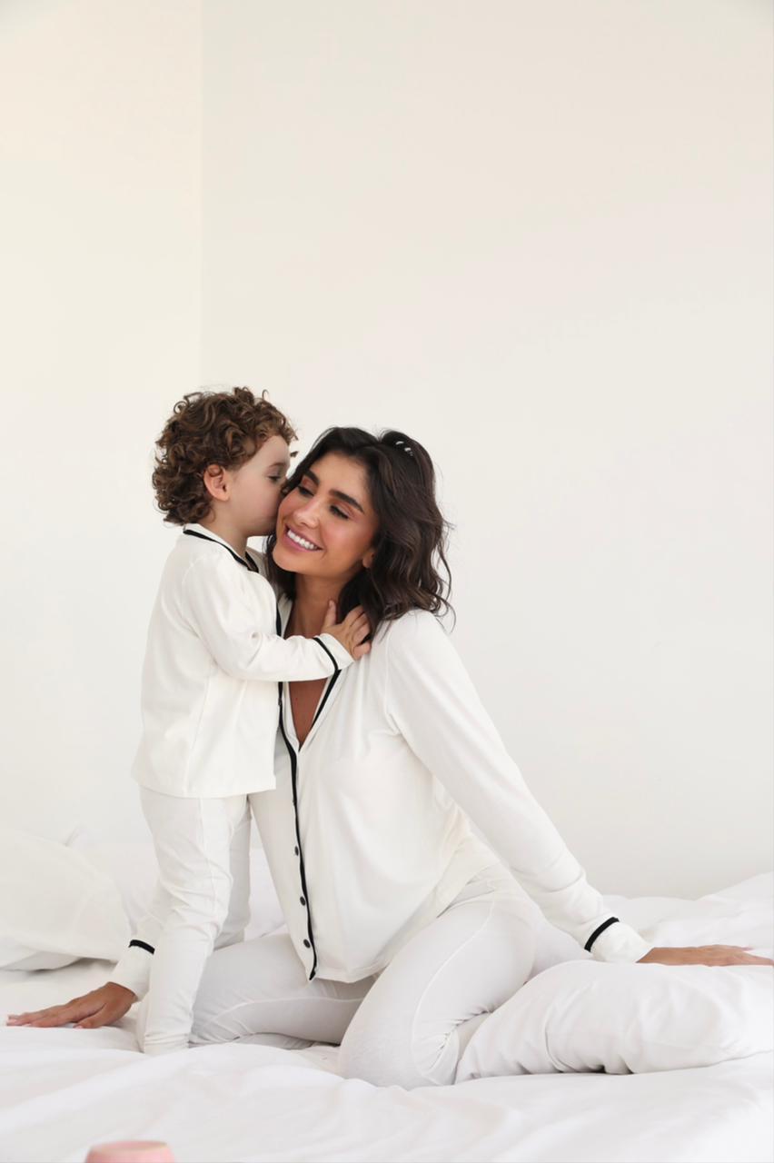 Pijama Longo Visco Patricia Cores