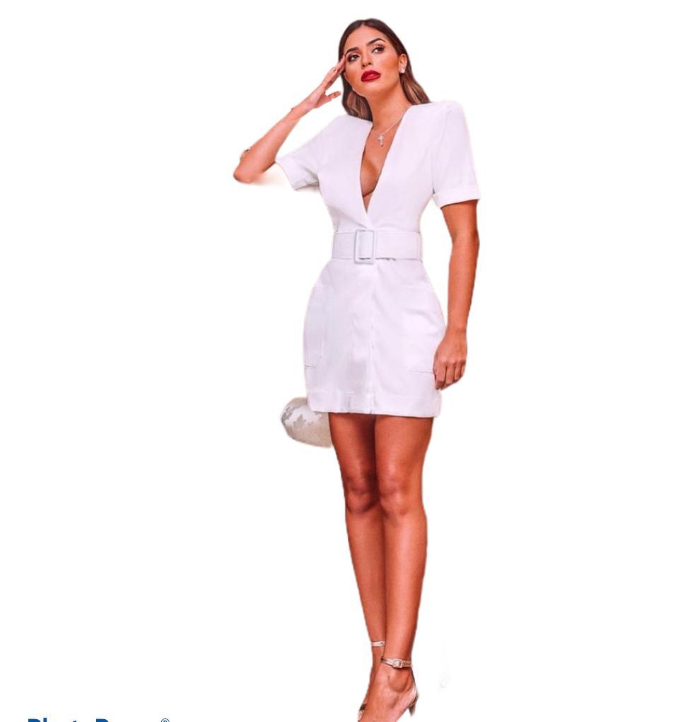 Vestido Branco Cetim Verônica