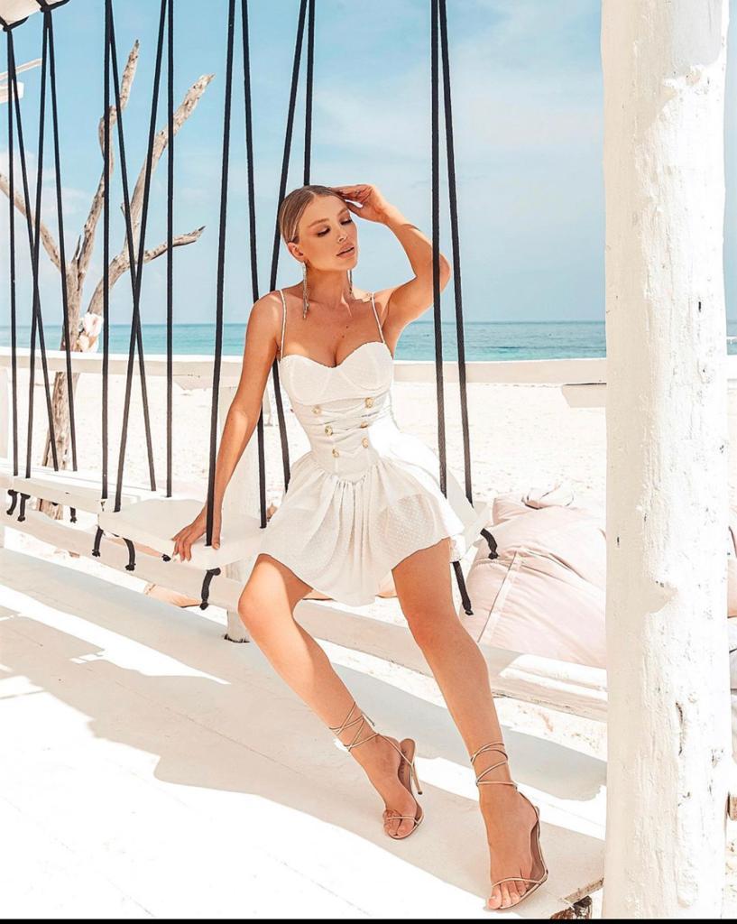 Vestido Branco com Bojo Estefania