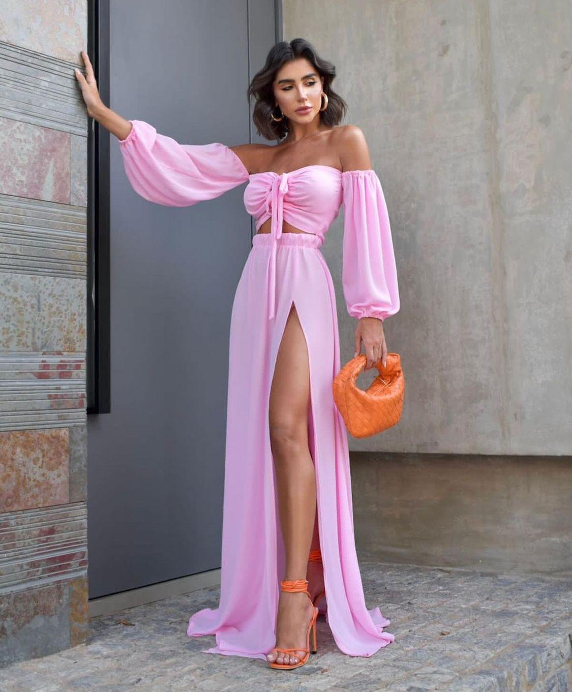 Vestido Flaviana Rosa