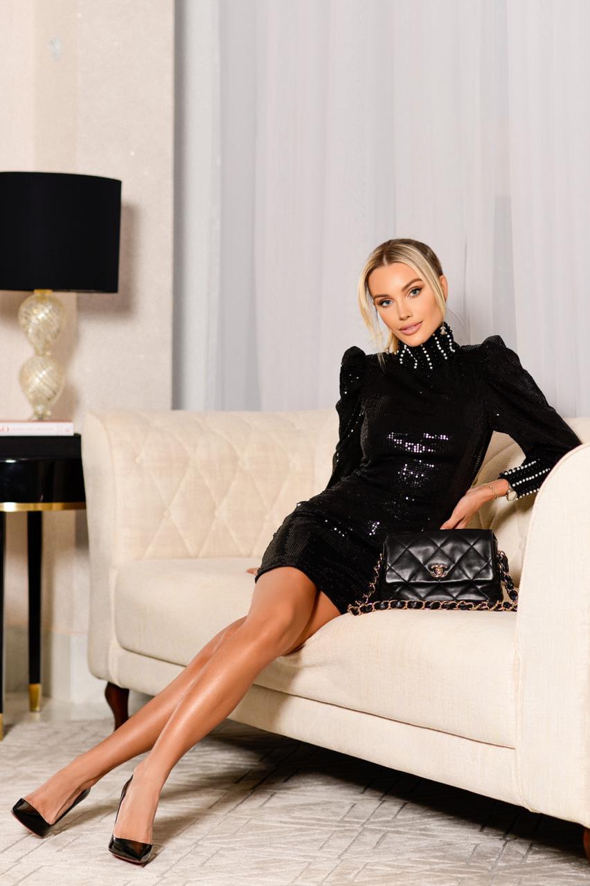 Vestido Gola Alta Alexandra