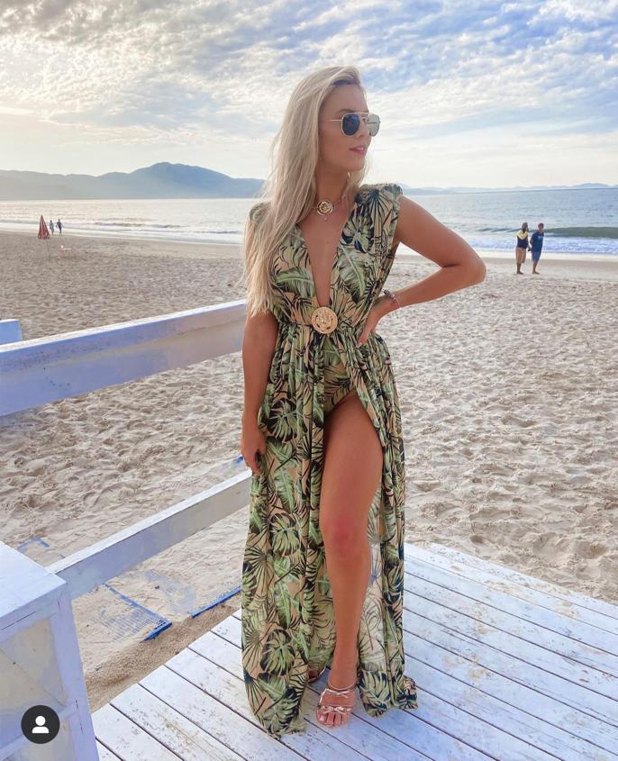 Vestido Longo Estampado Vanessa