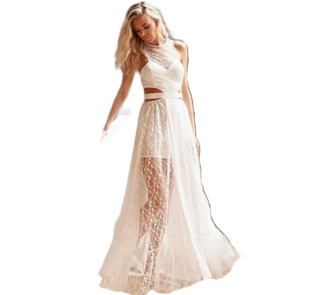 Vestido Longo renda Branco