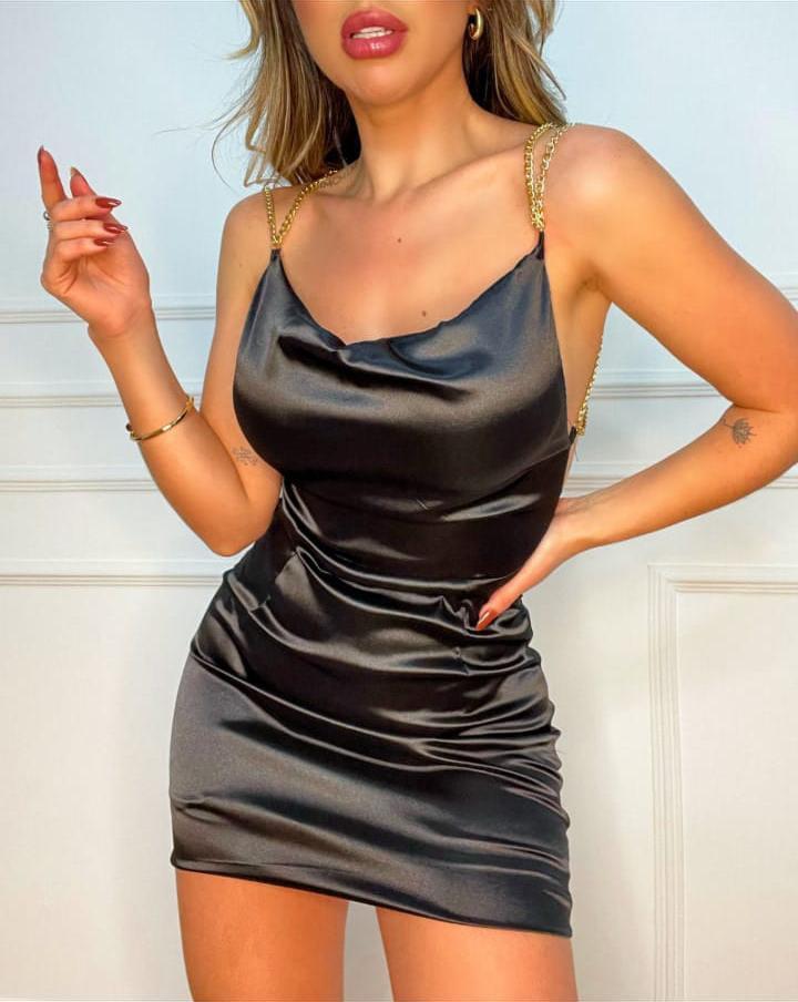 Vestido Simone Cetim