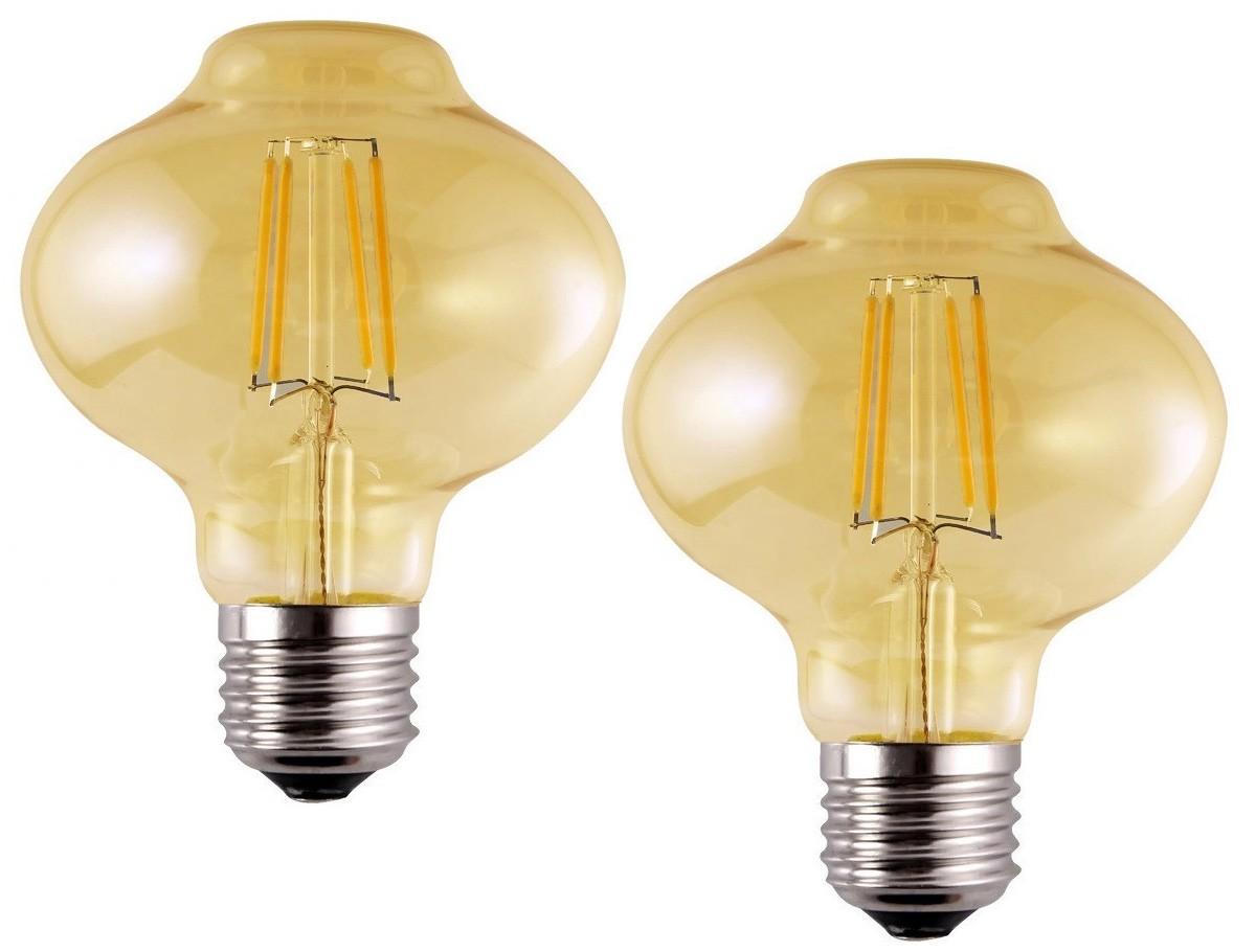 2 Lâmpadas de Filamento LED L80 4W Bivolt