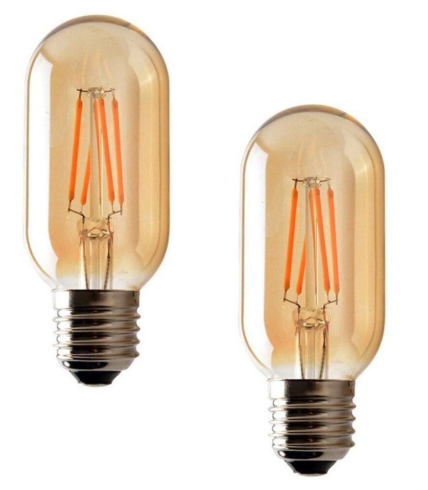 2 Lâmpadas de Filamento LED T45 4W Bivolt