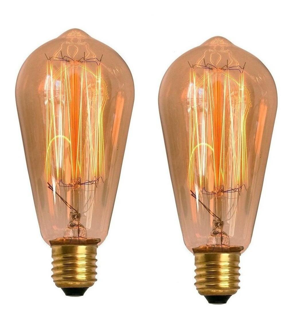 2 Lâmpadas Retrô Decorativa Vintage Thomas Edison St58