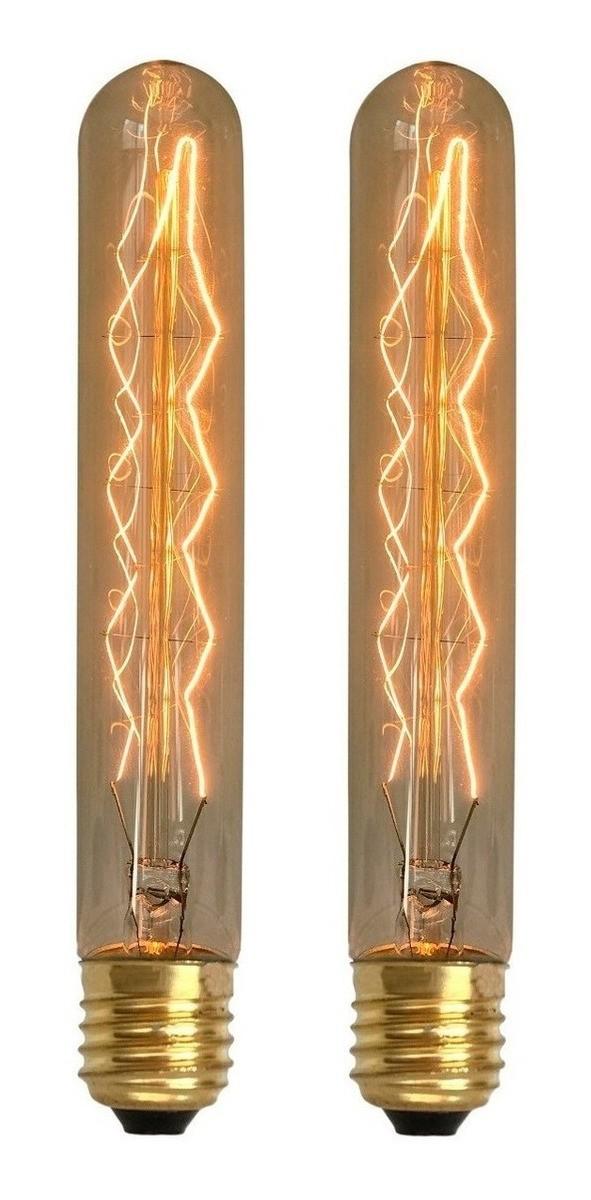 2 Lâmpadas Retrô Decorativa Vintage Thomas Edison T185