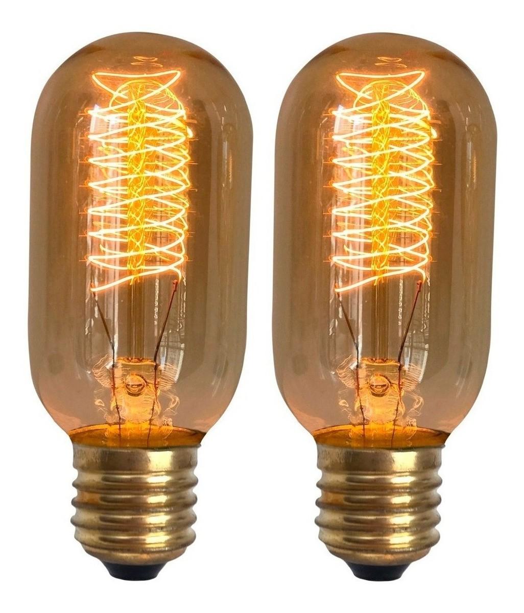2 Lâmpadas Retro Vintage Thomas Edison T45