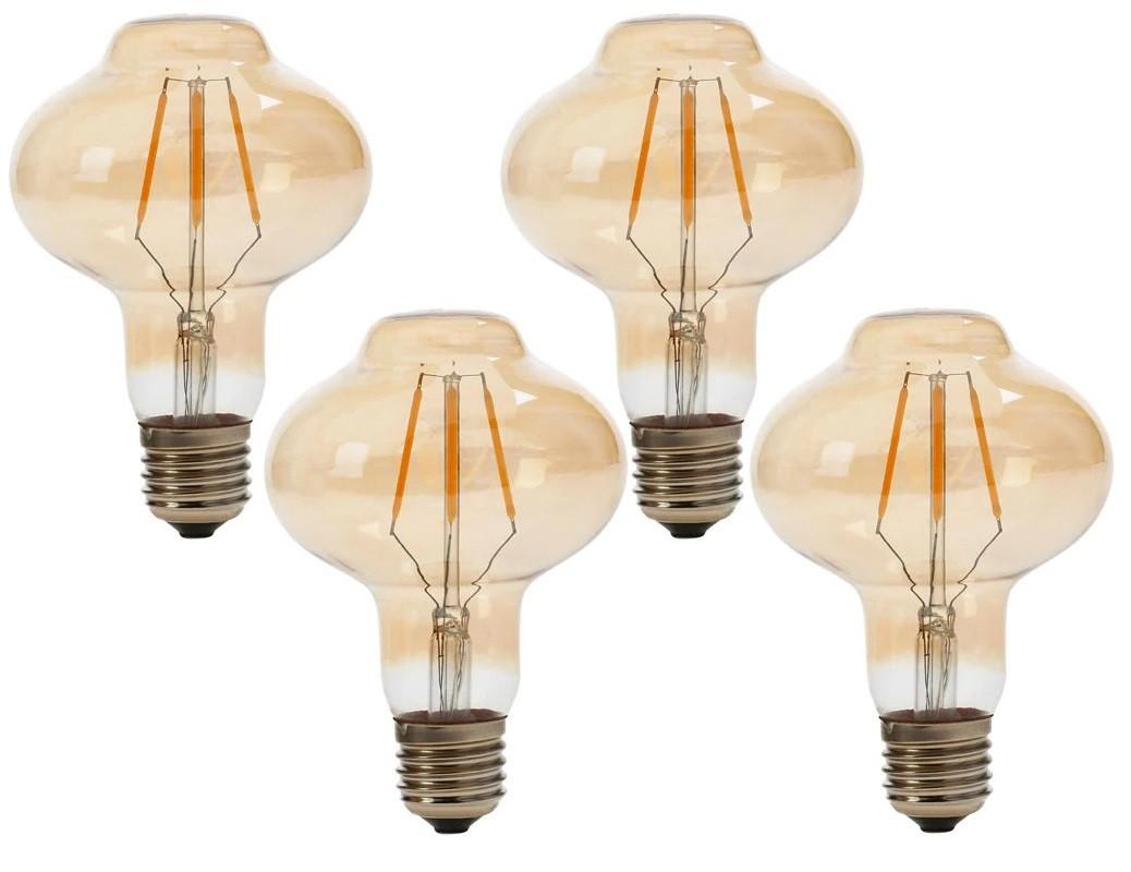 4 Lâmpadas de Filamento LED L80 4W Bivolt