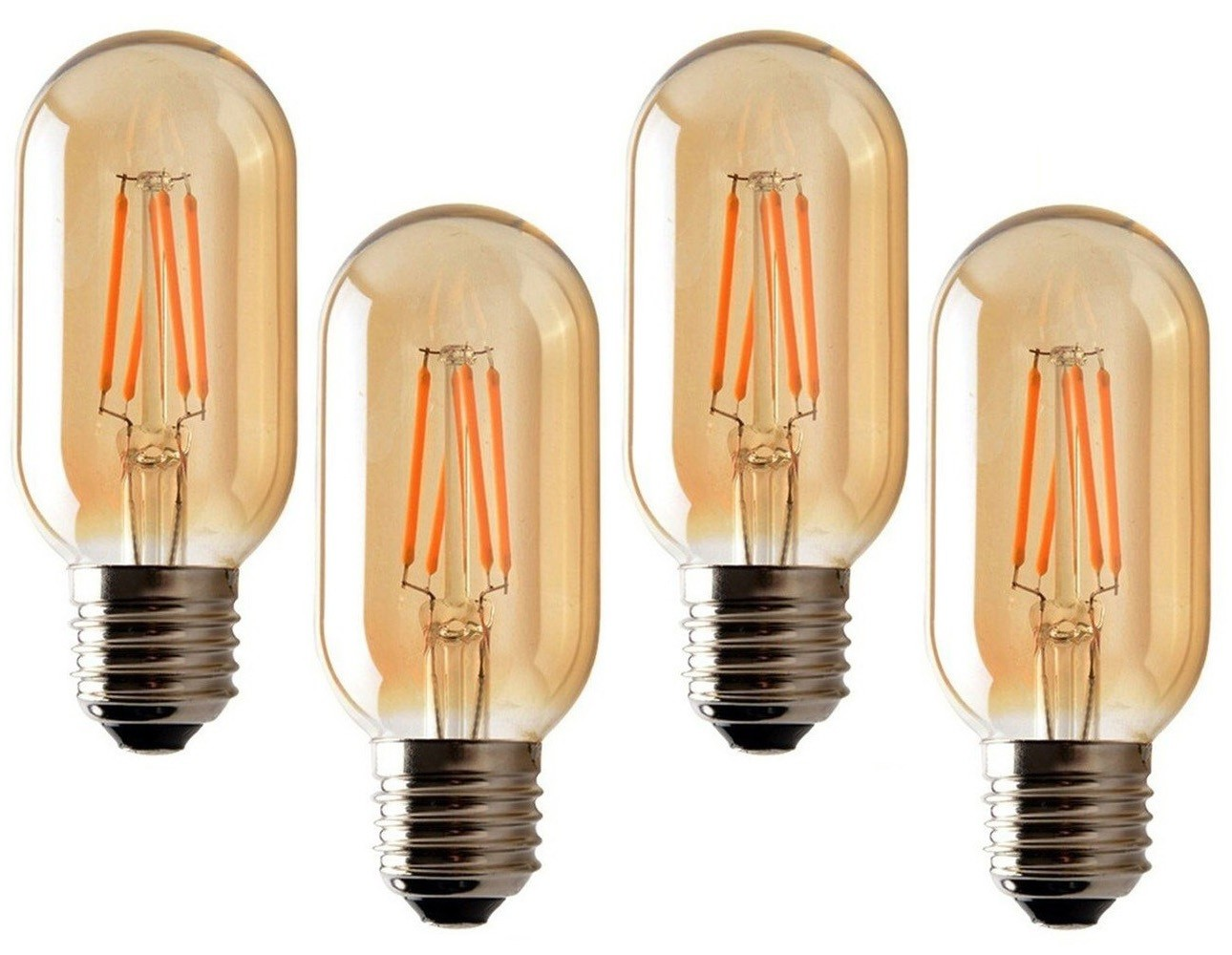 4 Lâmpadas de Filamento LED T45 4W Bivolt