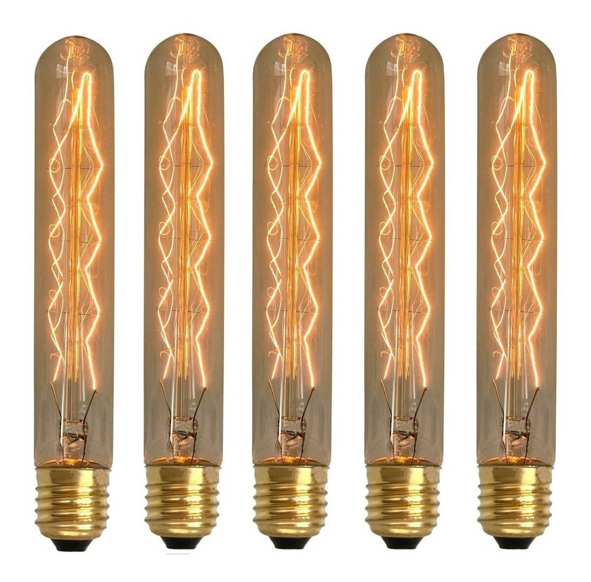 5 Lâmpadas Retrô Decorativa Vintage Thomas Edison T185