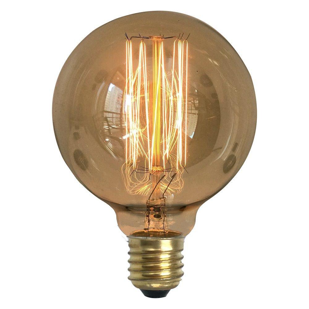 7 Lâmpadas Retrô Decorativa Vintage Thomas Edison G95