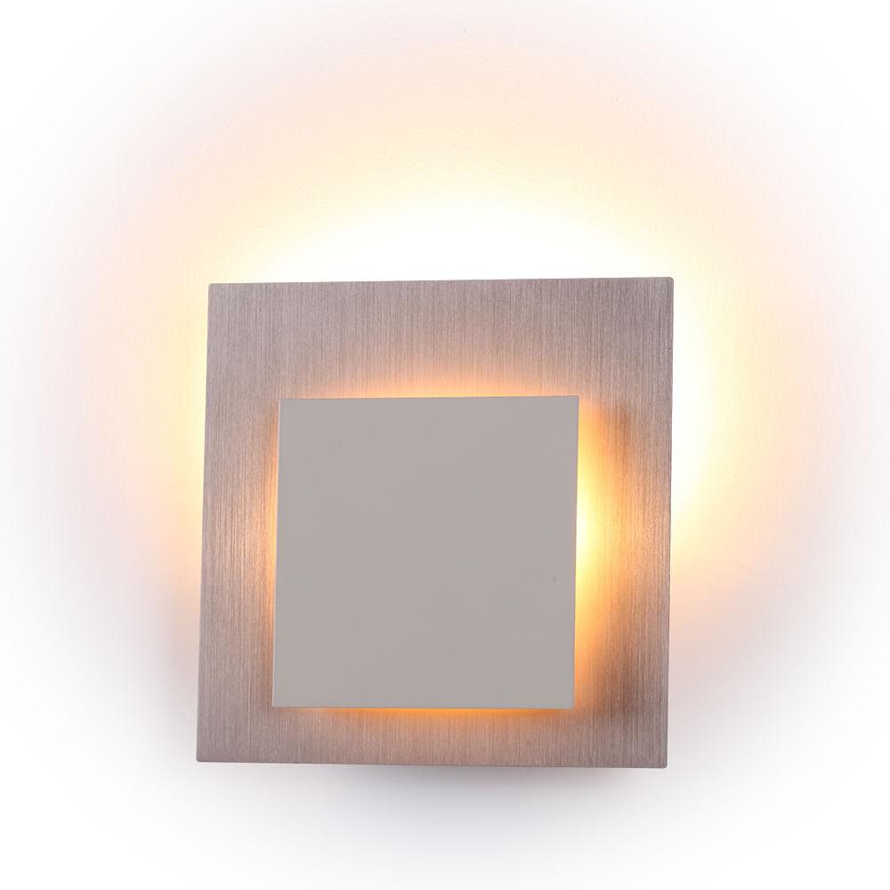Arandela Eclipse de Aço Aluminio e Acrilico Sand Gold e Branco