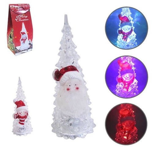 Árvore de Natal Acrílico Papai Noel 16x6,5cm