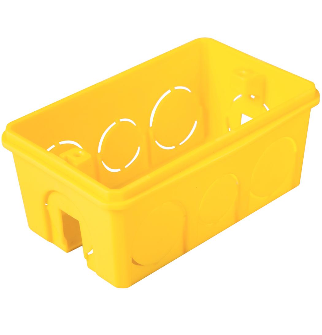 Caixa de Embutir Retangular 4x2 Pvc Amarela - Tramontina