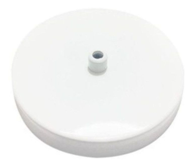 Canopla Ø11,6 x 2cm Branco Fosco