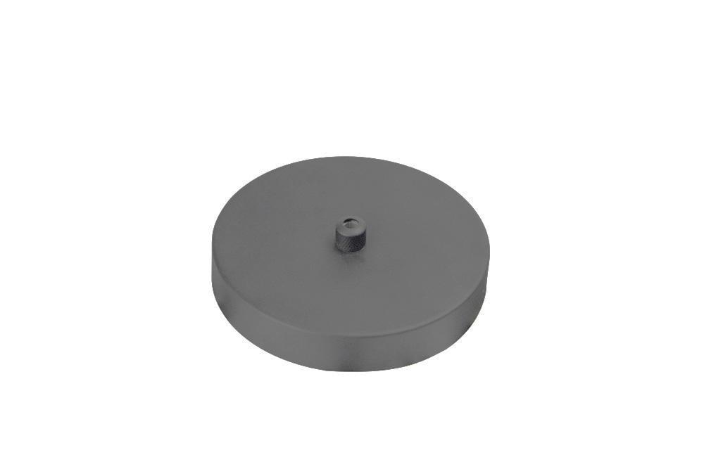 Canopla Ø11,6 x 2cm Cinza Concreto