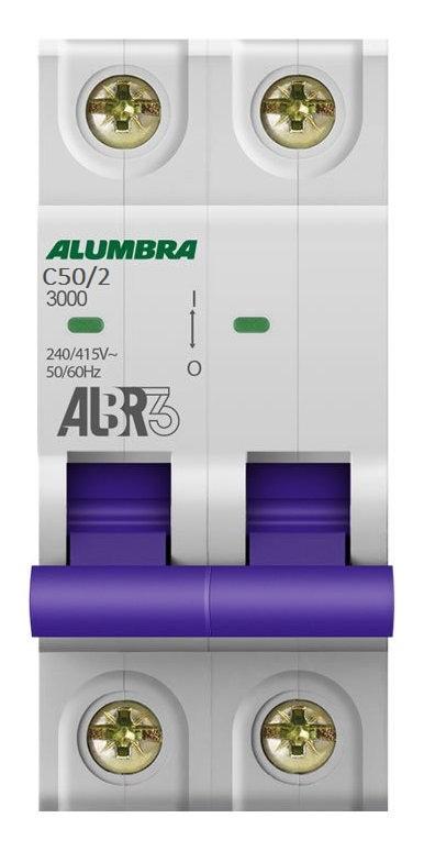 Disjuntor Bipolar Din Curva C 50A - Alumbra