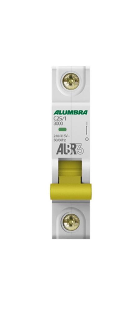 Disjuntor Unipolar Din Curva C 25A - Alumbra