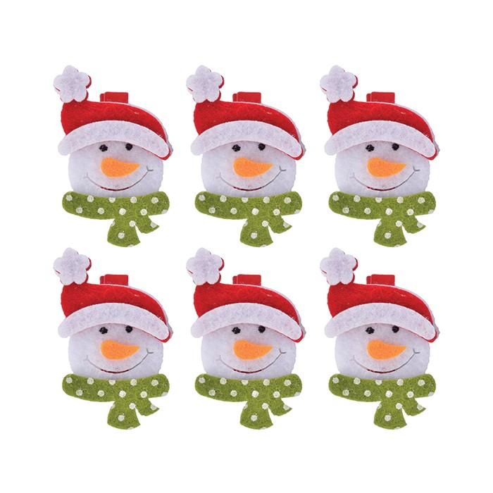 Enfeite Prendedor Natal Boneco de Neve
