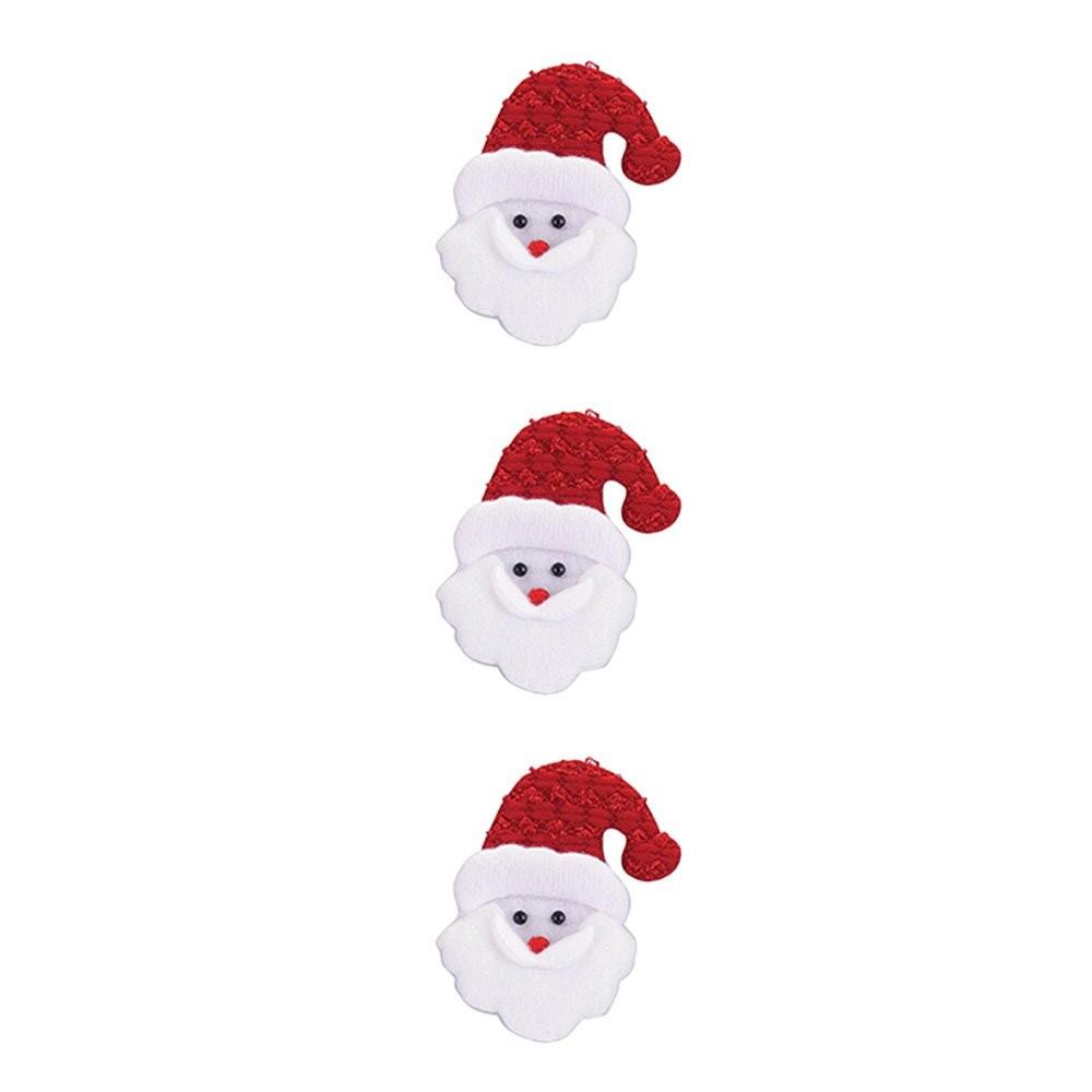Enfeite Rosto Noel com 3 peças