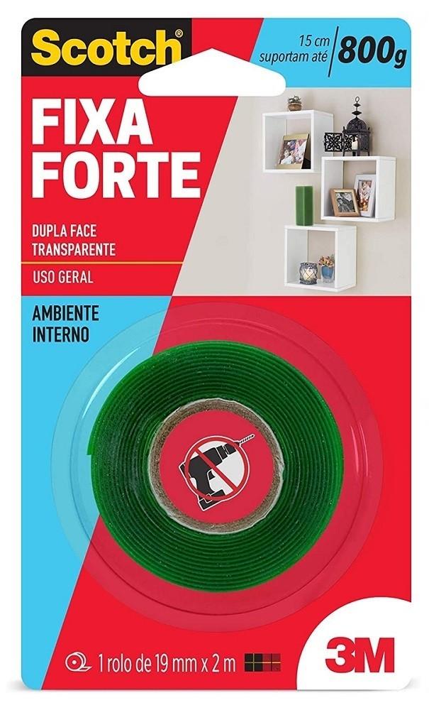 Fita Dupla Face 3M Forte Transp 19mmx2mt