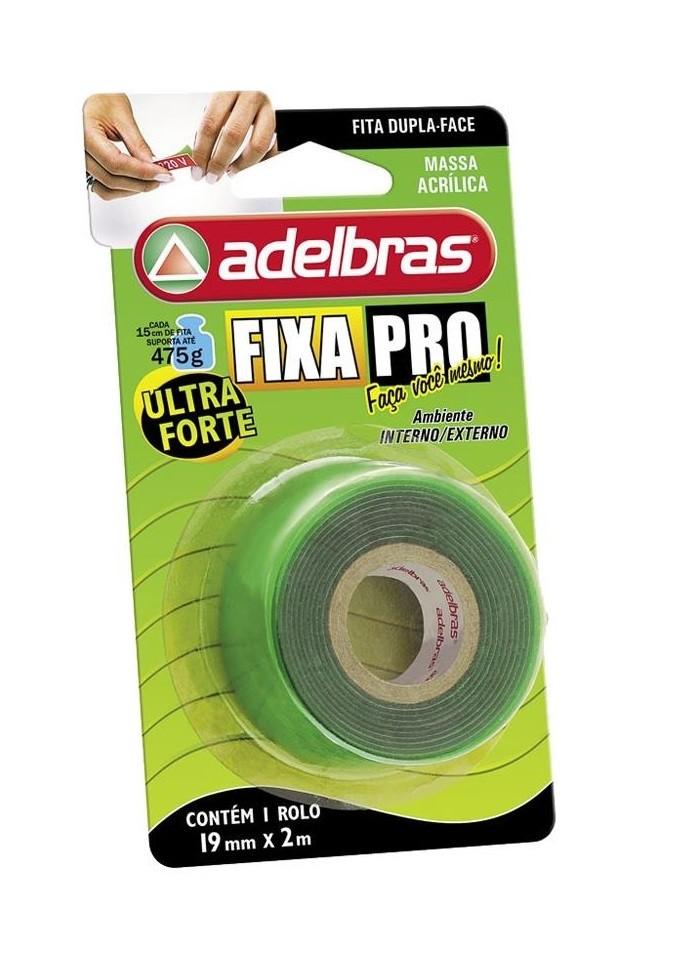 Fita Dupla Face Fixa Pro Verde 19mmX2m - ADELBRAS