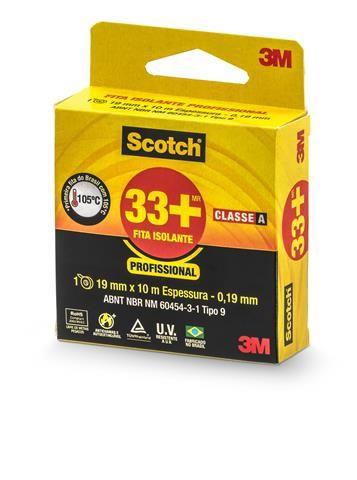 Fita Isolante Scotch 33+ 19mm Rolo com 10 metros