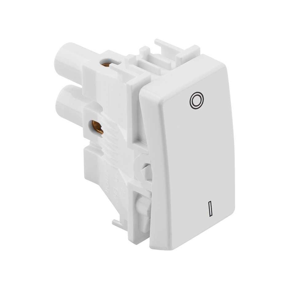 Interruptor Bipolar Simples Branco 10A 250V 1 Módulo - SIMON