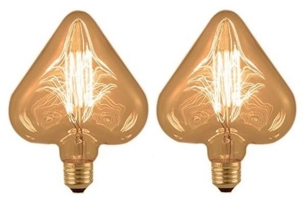 Kit 2 Lâmpadas Retrô Filamento Carbono 220V - Heart