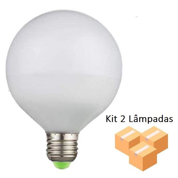 Kit 2 Lâmpadas De Filamento Led G95 Leitosa 4w - GMH