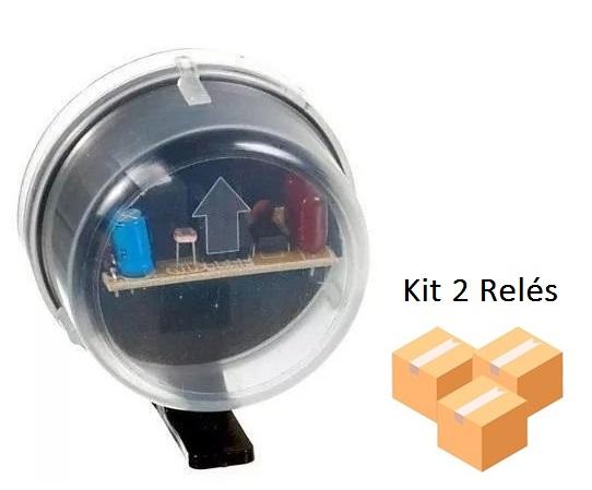 Kit 2 Relés Fotocélula Temporizado Externo 2x1 Qualitronix - Qr50m