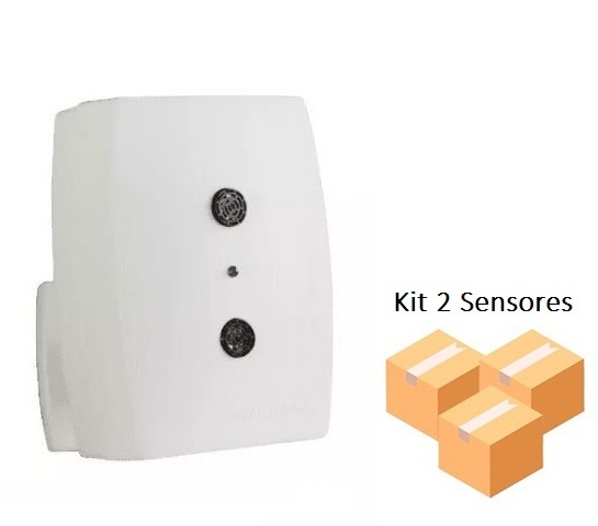 Kit 2 Sensores De Presença Interruptor Ultrasônico Qu60 Qualitronix