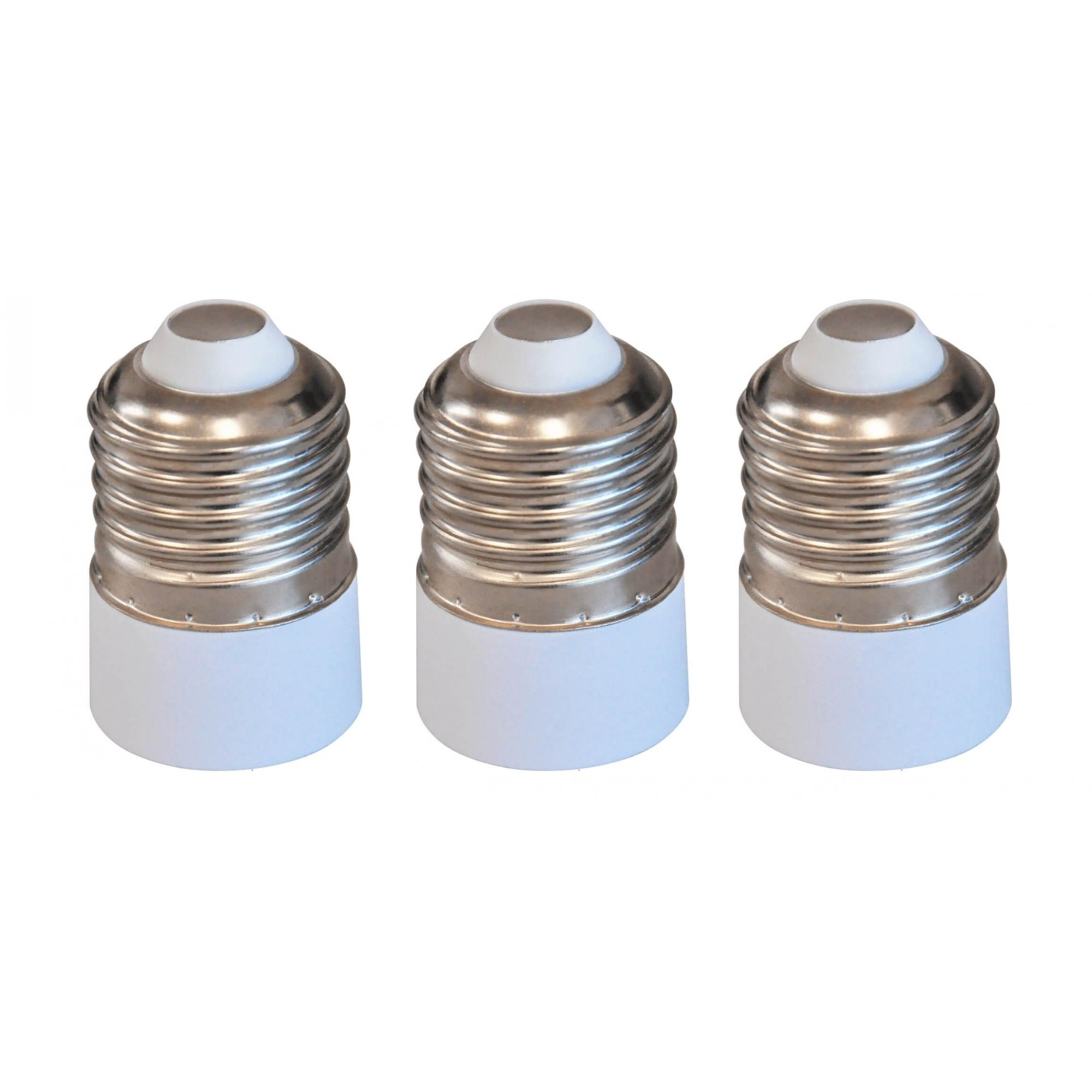 Kit 3 Adaptadores Soquete Bocal E27 Para E14