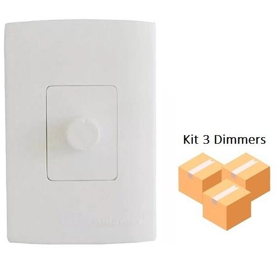 Kit 3 Dimmers Analógico com Espelho Qualitronix - Qd32