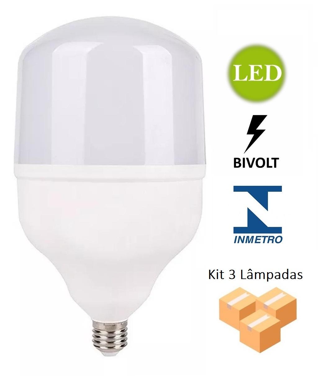 Kit 3 Lâmpadas Alta Potência Led 20w 6500k Bivolt - LUZ SOLLAR