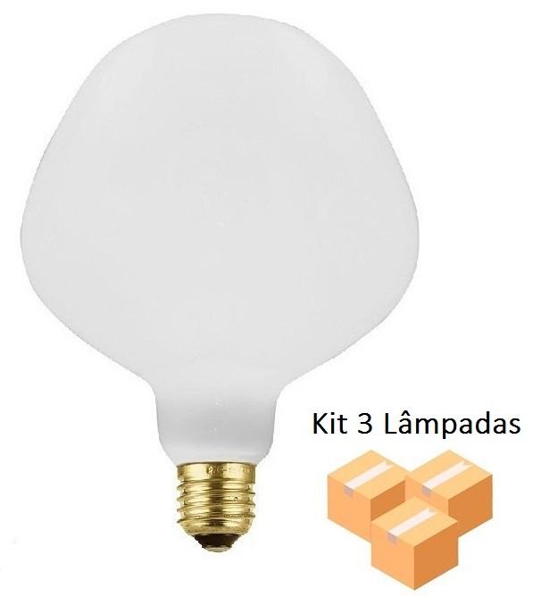 Kit 3 Lâmpadas De Filamento Led P130 Leitosa 4w - GMH