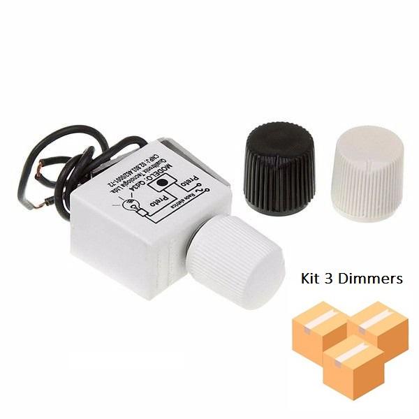 Kit 3 Módulos Dimmer Universal Analogico Qualitronix - Qd34