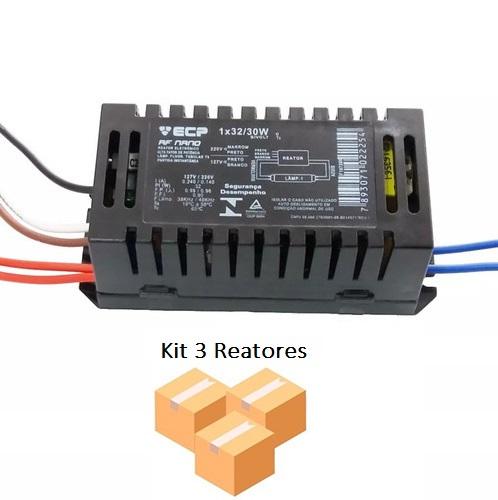 Kit 3 Reatores Eletrônico 1x32w P/ Lâmpada Circular