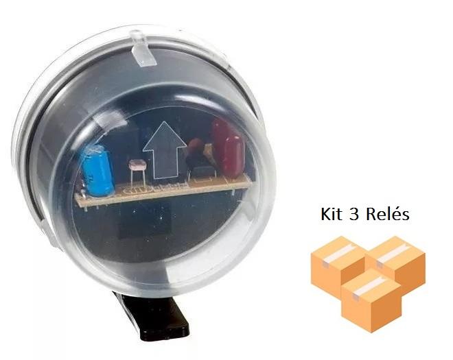 Kit 3 Relés Fotocélula Externo Qualitronix - Qr51