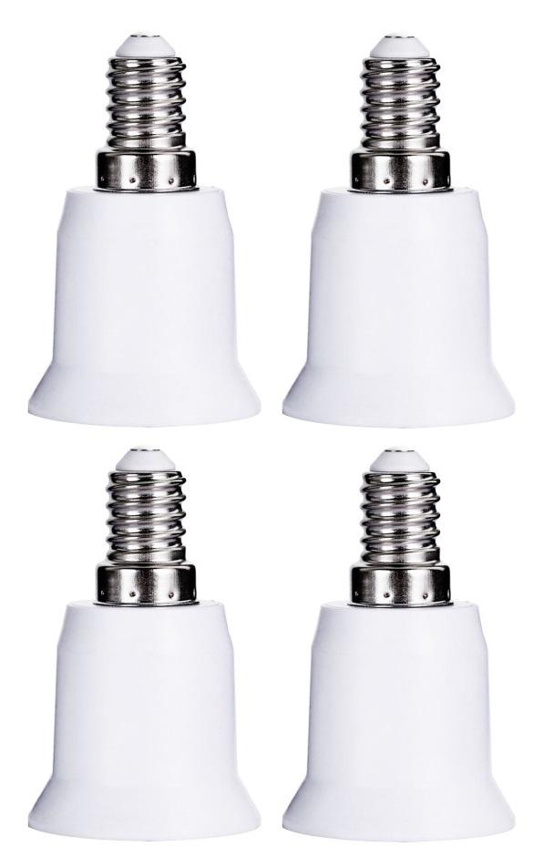 Kit 4 Adaptadores Soquete Bocal E14 Para E27