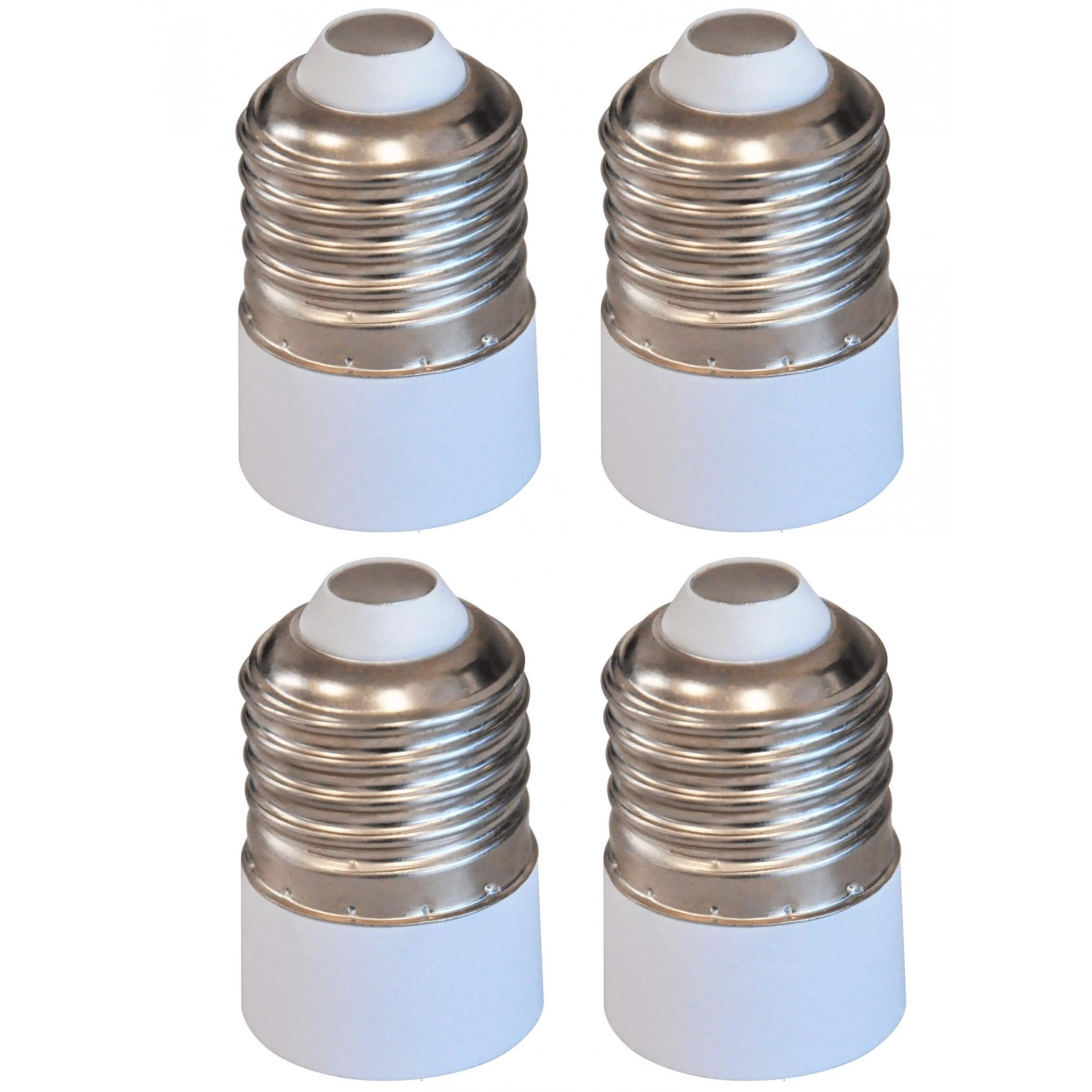 Kit 4 Adaptadores Soquete Bocal E27 Para E14