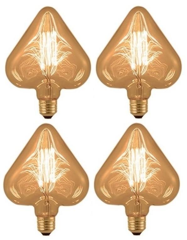 Kit 4 Lâmpadas Retrô Filamento Carbono 127V - Heart