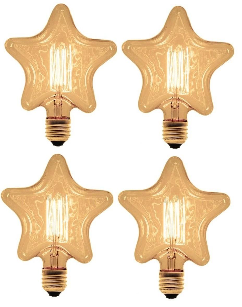 Kit 4 Lâmpadas Retrô Filamento Carbono 127v - Star