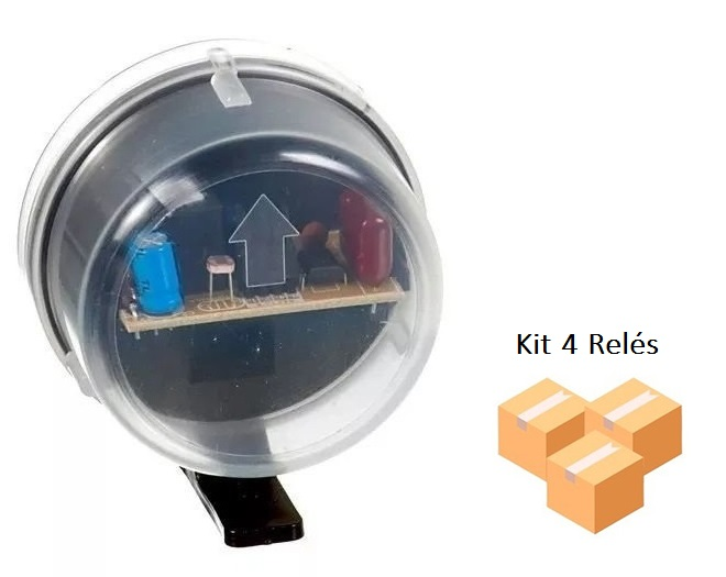 Kit 4 Relés Fotocélula Externo Qualitronix - Qr51