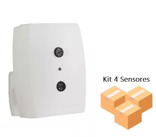 Kit 4 Sensores De Presença Interruptor Ultrasônico Qu60 Qualitronix