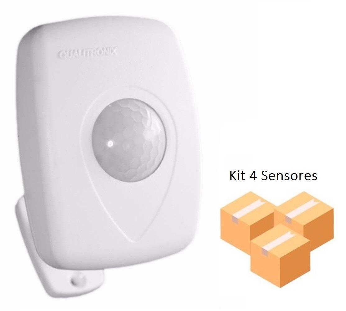 Kit 4 Sensores de Presença Teto e Parede Interno Qualitronix - Qa23M