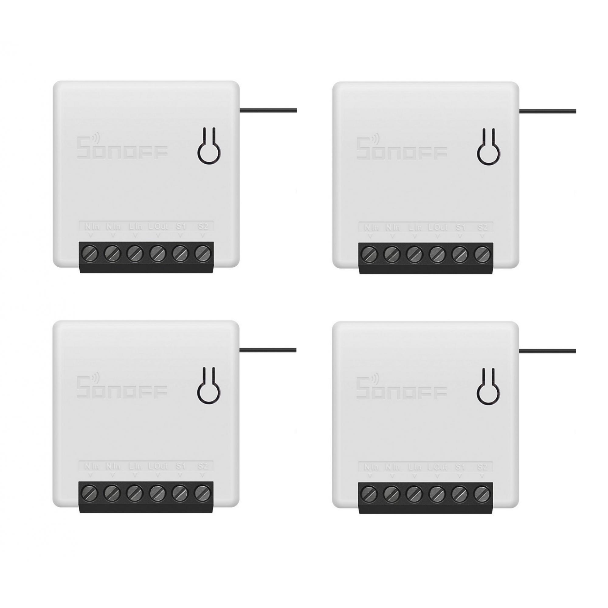 Kit 4 Sonoff Mini Smart Switch 1 Canal