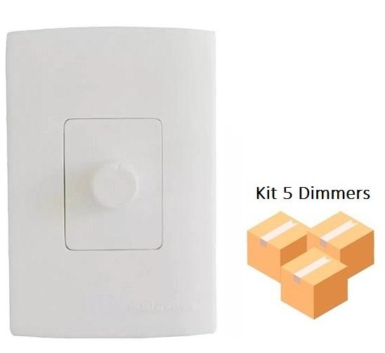 Kit 5 Dimmers Analógico com Espelho Qualitronix - Qd32